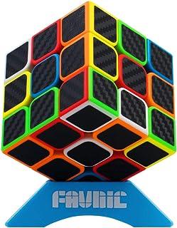 XMD 魔方 マジックキューブ 3x3 進化版 競技用 立体パズル 公式·WCA国際大会規格 FAVNIC 脳トレ おもちゃ (ステッカー 炭繊維)