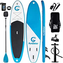 "FunWater All Round Paddle Board 11'Length 33"" Width 6"" Thick Inflatable Sup with Adjustable Paddle,ISUP Travel Backpack,Le..."