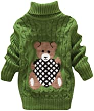 Youmymine Toddler Baby Girls Boy Long Sleeve Sweater Knit Pullover Bear Print Crochet Tops Winter Warm Tee Clothes