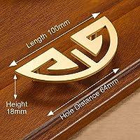 キャビネットの取っ手 ヨーロッパのヴィンテージゴールドノブ純銅のキッチンキャビネットハンドル食器棚のドア引き出し引き出しのノブ真鍮家具ハンドルハードウェア (色 : 1087)