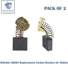 2 PCS Reliable CB204 Carbon Brush Replacement for Makita CB203, CB203, CB202, 191944-6, 191953-5, 191957-7, 181051-3, 643200-5 (2 pcs/pack)