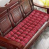LINGXIYA Cojín de banco de jardín, grueso y suave, cojín de asiento de muebles al aire libre, cojín de tumbona, cómodo colchón rectangular para interior o patio, columpio Tatami de 2 a 3 plazas