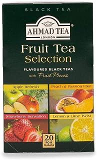 Ahmad Tea Fruit Tea Selection of 4 Fruit Black Teas, 20 Teabags