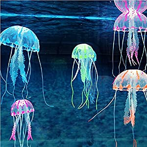 Supkeyer 5Pcs Artificial Glowing Effect Fish Tank Decorati...