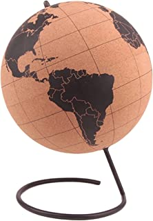 Cork Wood Tellurion Globe Marble Maps Home Office Decoration World Map Training Geography Map Balloon Gift (Size : 20cm)