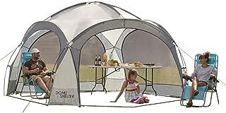 Garden Gear Clifford James Outdoor Event Kuppelzelt, UV Schutz Partyzelt mit Seitenteilen für Strand, Festivals & Camping (Silber)