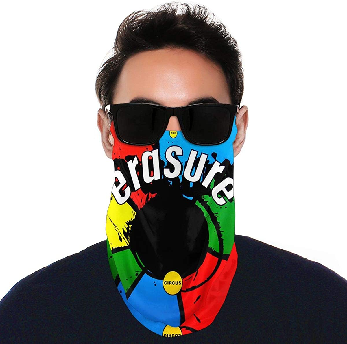 SIPONE Washable Men's & Women's Erasure Chorus Reusable Multiuse Bandanas Neck Gaiter Print Mask