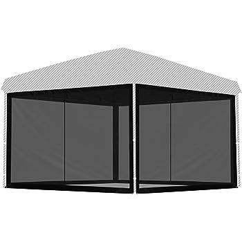 FIELDOOR タープテント専用バグガード 【サイドシート4枚セットか一体型タイプが選べます】 2.0m用 2.5m用 3.0m用 虫除け対策 簡単取り付け メッシュスクリーン