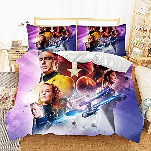 3D Duvet Cover Bedding Bettwäsche Set -Ausstellungsplakat Star Trek: Discovery TV-Duvet Cover Set: Single Size Included 1 Duvet Cover: Single(135x200 cm), 1 Pillowcase : 48cmx75cm. Best Gifts for