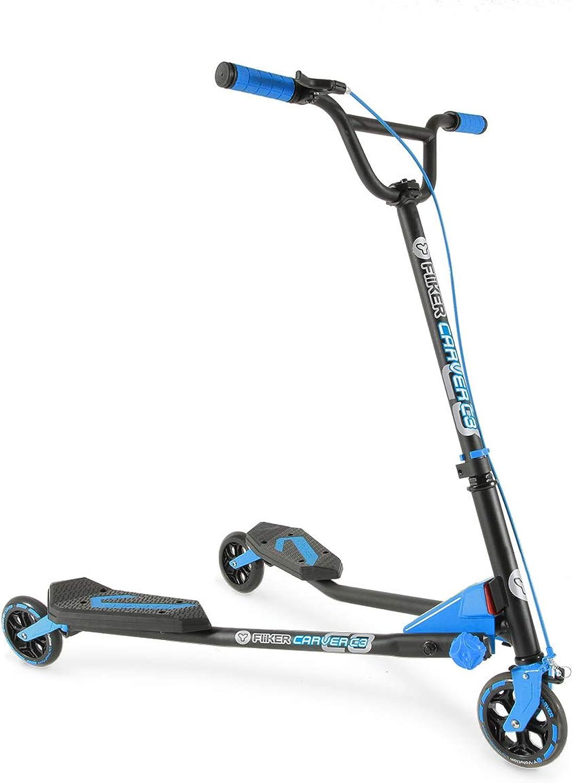 barato YVolution Kids 'y y Fliker Fliker Fliker Cochever C3Ultimate Performance Scooter, Azul  moda clasica