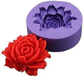 TININNA Molde De Silicona Forma con Flor Rosa para Fondant Tarta