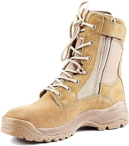 De los hombres Trekking y Senderismo botas Altas Zapaños botas de Desierto Ejército Militar Ligero Entrenamiento táctico botas de Combate Hombre Botines al Aire Libre