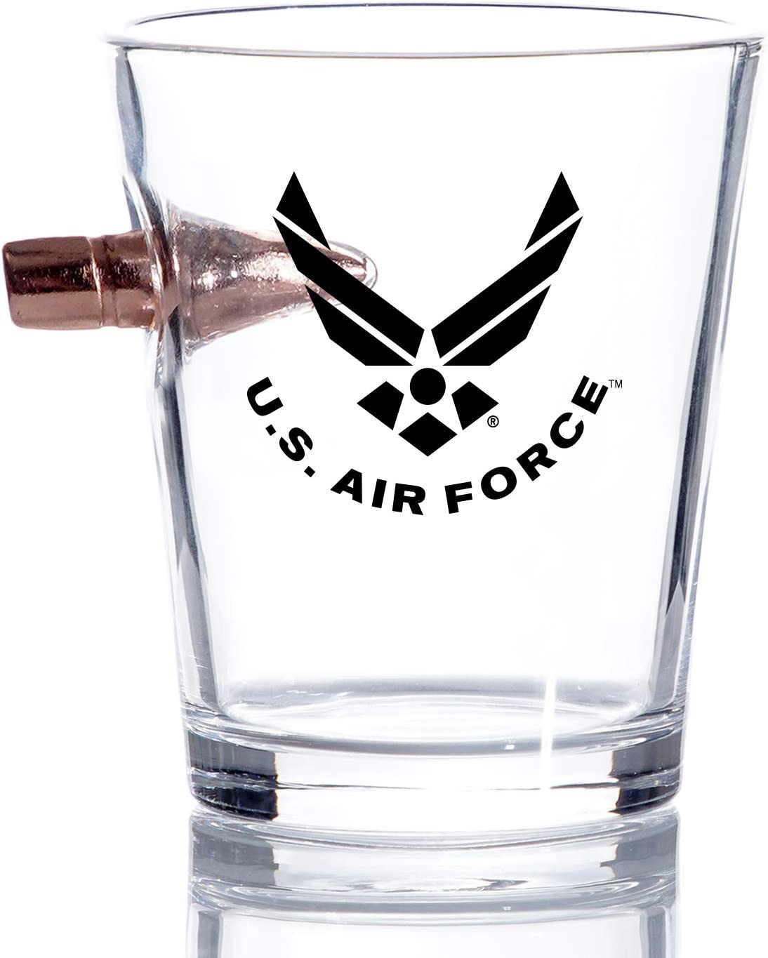 Air Force Bullet Shot Glass Glasses – Special price Hand US Blown Outstanding