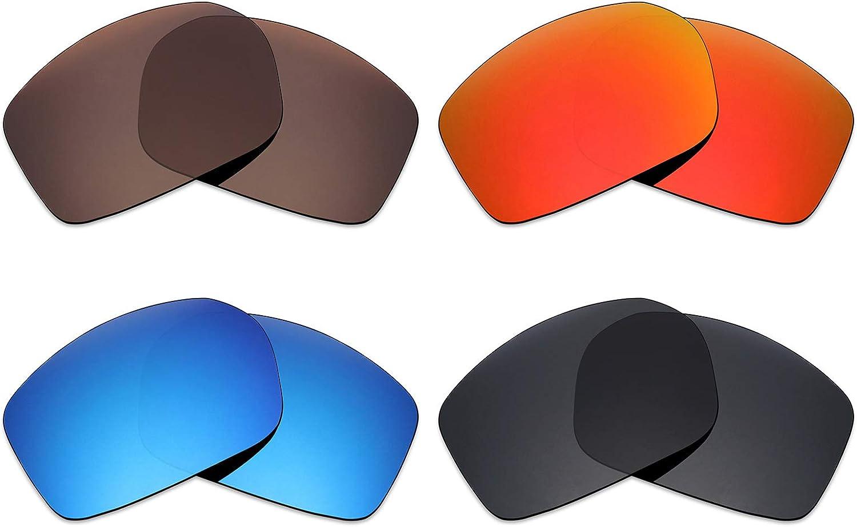 Mryok 4Paar Polarisierte Ersatzglser für Spy Optic Touring Sonnenbrille–Stealth Schwarz Fire Rot Ice Blau Bronze Braun