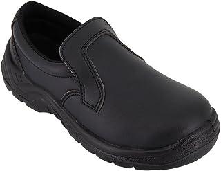 Hurry Jump Chaussure de Cuisine Noire - Chaussure de Travail Agro Alimentaire Noire avec Coque de Protection ISO20346 - Di...