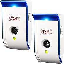 TOPELEK Répulsif Ultrason,pest reject,prise anti moustique ultrason,Anti Rongeur, cafards, Mouches, moustiques et Autres Insectes répulsifs (2 PACK)