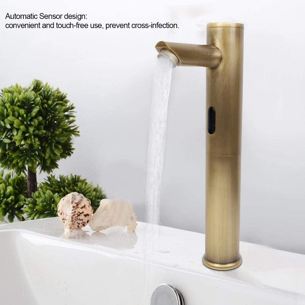 Timeout Function Beautiful Bathroom Faucet Power Saving Automatic Sensor Faucet Easy Maintenance for Bathroom for Kitchen Antique