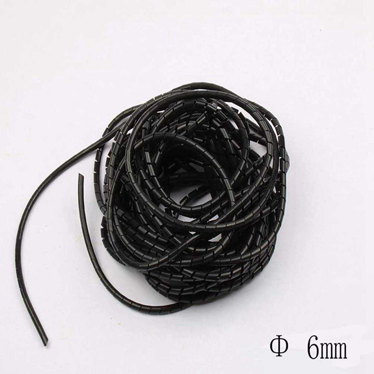 Spiral Wrapping Band SWB-06 Diameter 6mm About 13M Length Black Cable Casing Cable Sleeves Winding Pipe Spiral Wrapping