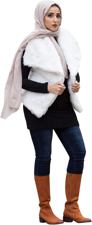 Verona Womens Solid Faux Fur Vest