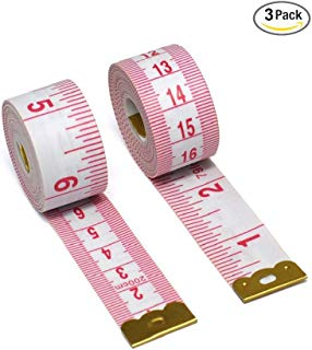 Aigemi Pack of 3, 79-Inch Tape Measure for Sewing Tailor Cloth Ruler