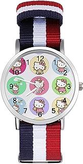 Hello Kitty - Reloj de ocio para adultos, moderno, bonito y personalizado de aleación de concha, reloj deportivo casual pa...