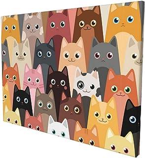 Cute animal pattern design funny illustration print poster framed wall art decor