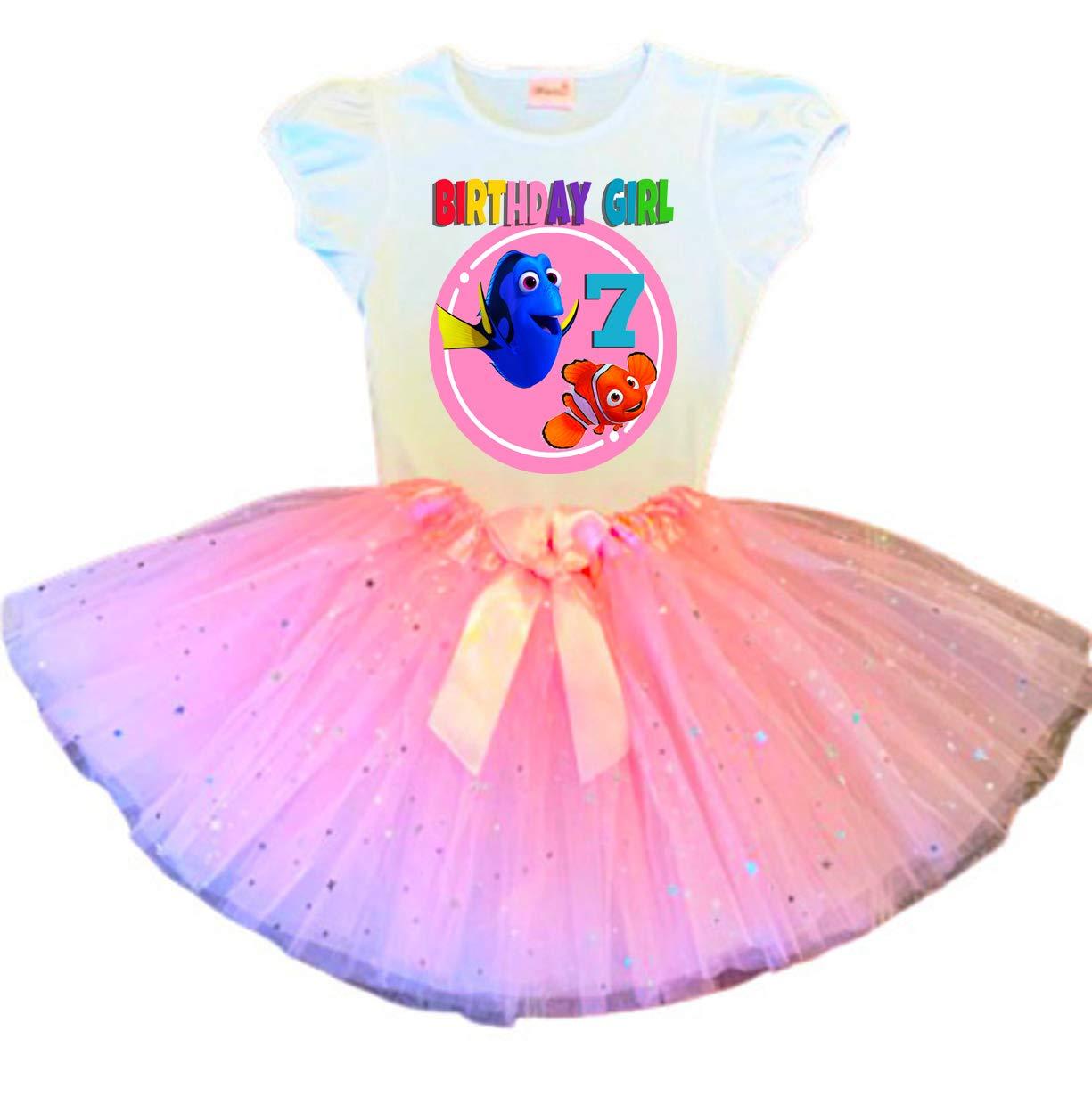 SALENEW very popular! Dory and Nemo Birthday Tutu Max 68% OFF 7th Dress Pink O Party