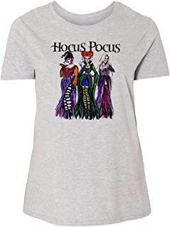 Custom Apparel R Us Womens Plus Size Short Sleeve Hocus Pocus Shirt Sisters
