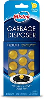 Glisten Disposer Care Freshener, Odor Eliminator, Quick & Easy-to-Use Garbage Disposal Freshener, Lemon Scent, 10 Uses