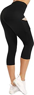 Sweetaluna Workout Leggings for Women with Pockets,High Waist Training Yoga Pants Running Tights