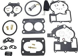 iFJF Carburetor Rebuild Kit for Mercury Marine 3.0L 4.3L 5.0L 5.7L Mercarb 2 BBL Carburetor 3302-804844002 1389-9562A1 1389-9563A1 1389-9564A1 1389-9670A2 1389-806077A2 (With float)