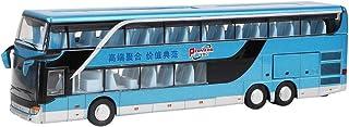 Kinderauto model speelgoed, elektrisch 1:50 legering dubbeldekker bus model speelgoed met lichte muziek voor kinderen kind...