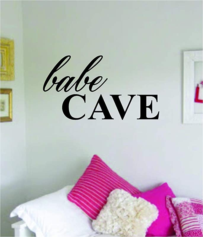 Babe Cave Wall Decal Sticker Vinyl Art Bedroom Living Room Decor Decoration Teen Girl Daughter Baby Queen Princess Funny Love Family Cute Newborn Stars Nursery Playroom Feminist