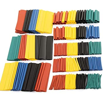 FOLAI 850 Pieces, Electric Heat Wrap, Cable Insulated Sleeving Tubes, Shrink Ratio 2: 1, 5 Colors, 12 Sizes