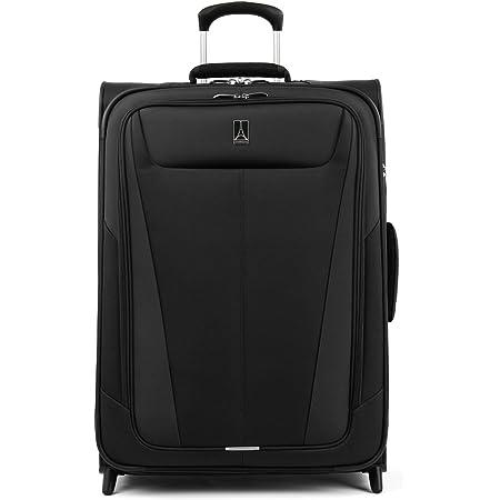 Travelpro Maxlite 5-Softside Lightweight Expandable Upright Luggage, Black, Checked-Medium 26-Inch