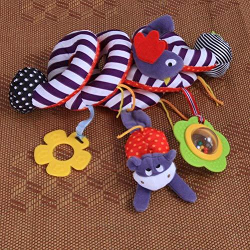 Bebé colgante espiral sonajero cochecito lindo pájaro animales cuna móvil cama juguetes recién nacido educativo temprano juguete cochecito y cochecito juguetes