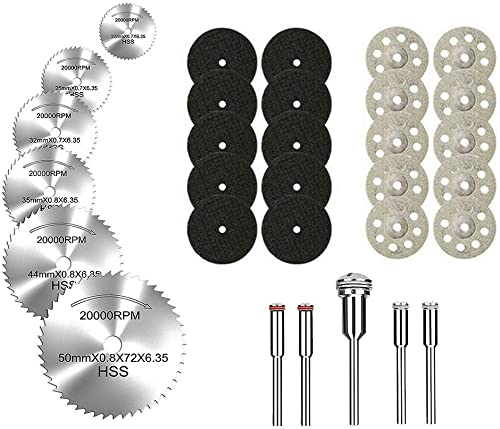 discount YEEZUGO 2021 outlet online sale 10 pcs Diamond Cutting Wheel Cut Off Discs Coated Rotary Tools W/ Mandrel 22mm for Dremel (Cutting Wheel Kit) sale