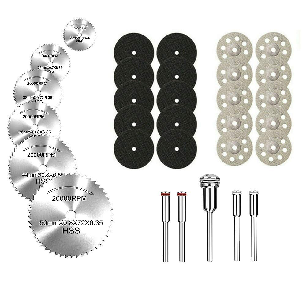 YEEZUGO 10 pcs Diamond Cutting Wheel Cut Off Discs Coated Rotary