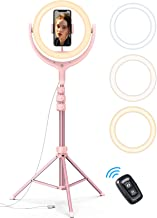 10' Selfie Ring Light 67' Tripod Stand - Lamicall LED Circle Halo Light with Cell Phone Holder for Live Stream/Makeup/YouTube Video Recording/Photography, ARO De Luz Compatible with 4-6.5' Phones