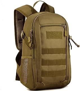 Loglife Tactical Shoulder bag backpack Military use MOLLE daypack 12L Assault Pack Student School Bag for Hunting Camping Climbing Travel (DE)