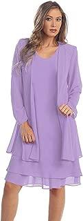 ihot Women 2 Pcs Set Chiffon Jacket Dress Mother of Bride Dresses