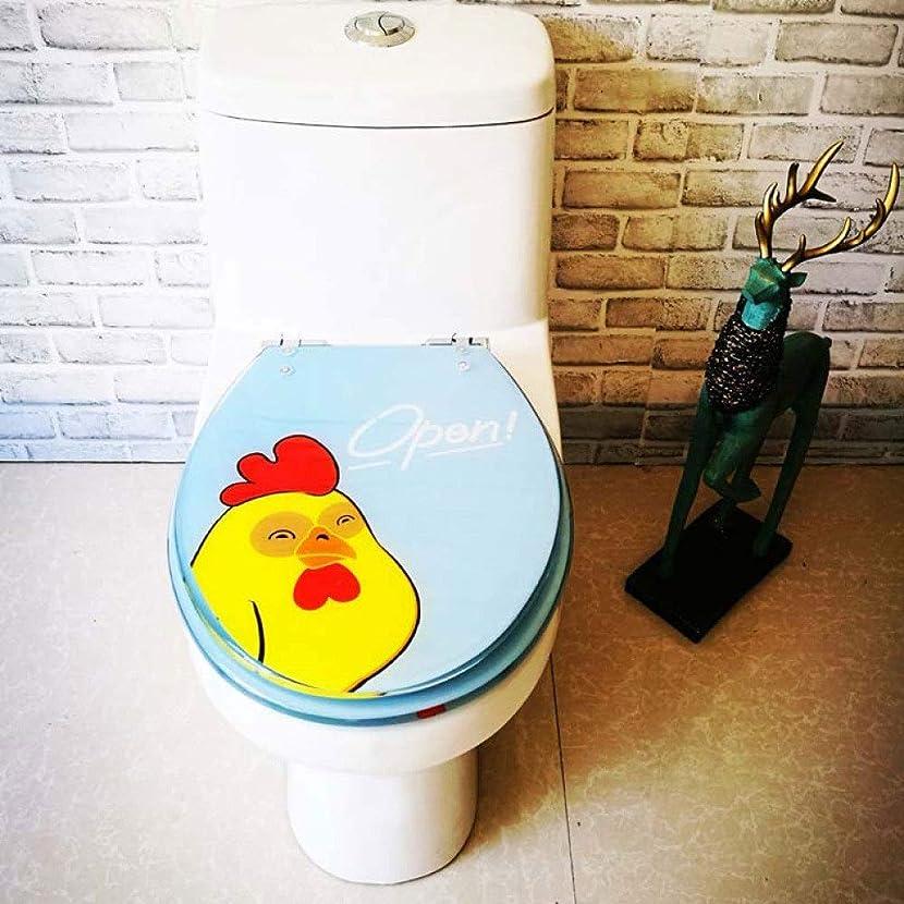 と闘うどうしたの習慣調節可能な蝶番が付いている便座の動物の美しい鶏の便器のふたクイックリリース便座カバーV/U/Oの形のトイレのための厚くされた浴室のふた、OneColor-40?48cm * 33?38cm