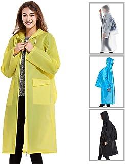 RAYIEN 軽量 完全防水バックパック付きの位置 ファスナー型のレインコート ウオーキング 通勤 通学 男女兼用 梅雨 レインウエア