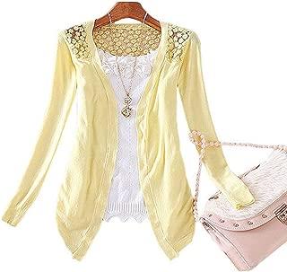 Best-topshop Women Lace Cardigan Sweater Sweet Candy Color Crochet Knitwear Coat