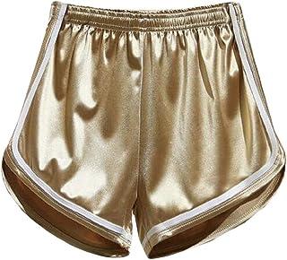 DressU Women's Hi-Waist Solid Summer Workout Leisure Hot Pants