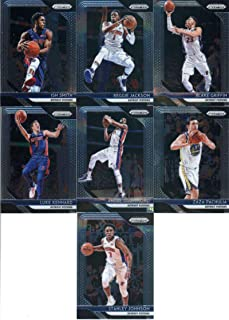 2018-19 Panini Prizm Basketball Detroit Pistons Team Set (Veterans) 7 Cards: Reggie Jackson(#142), Luke Kennard(#152), Stanley Johnson(#162), Blake Griffin(#172), Andre Drummond(#182), Zaza Pachulia(#192), Ish Smith(#202)