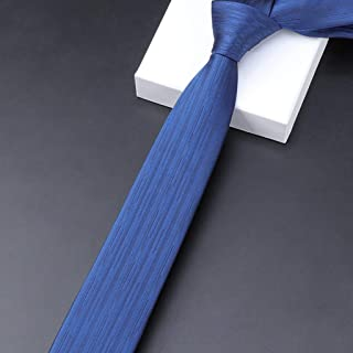 Men's Solid Color Necktie Silk Tie for Weddings Or Working Multi-Color Options, Father, 145 × 6cm CQQO (Color : E)