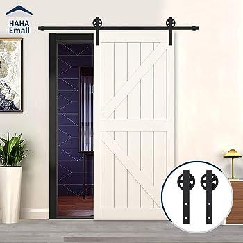 Set de puerta corredera y raíl de Hahaemall, estilo de puerta de ...