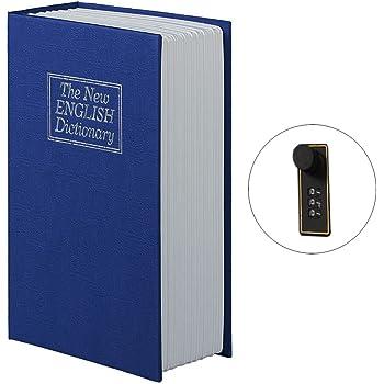 Caja fuerte, FOKOM Caja de seguridad Caja de Caudales Seguridad como Libro Caja fuerte de seguridad con forma de libro-English Dictionary: Amazon.es: Hogar