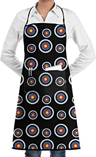 Klasl5 Adult Archery Target Colorado Circular Restaurant Aprons Chef Cooking Bib Apron for Kitchen Waitress Men Women BBQ Painting Stylist Artist.